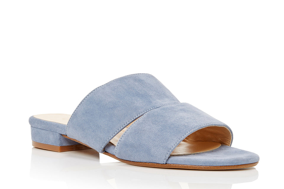 Lara Sandal in Denim Suede
