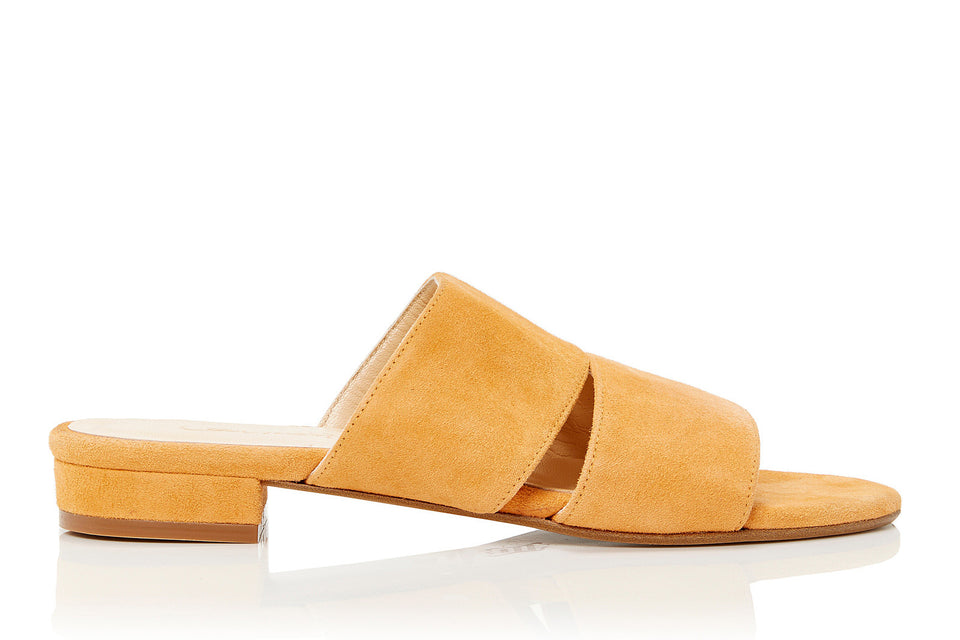Lara Sandal in Orange Suede