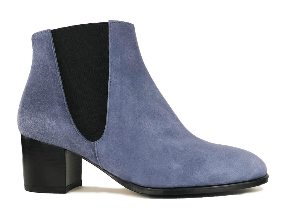 Adele Denim Suede Ankle Boots
