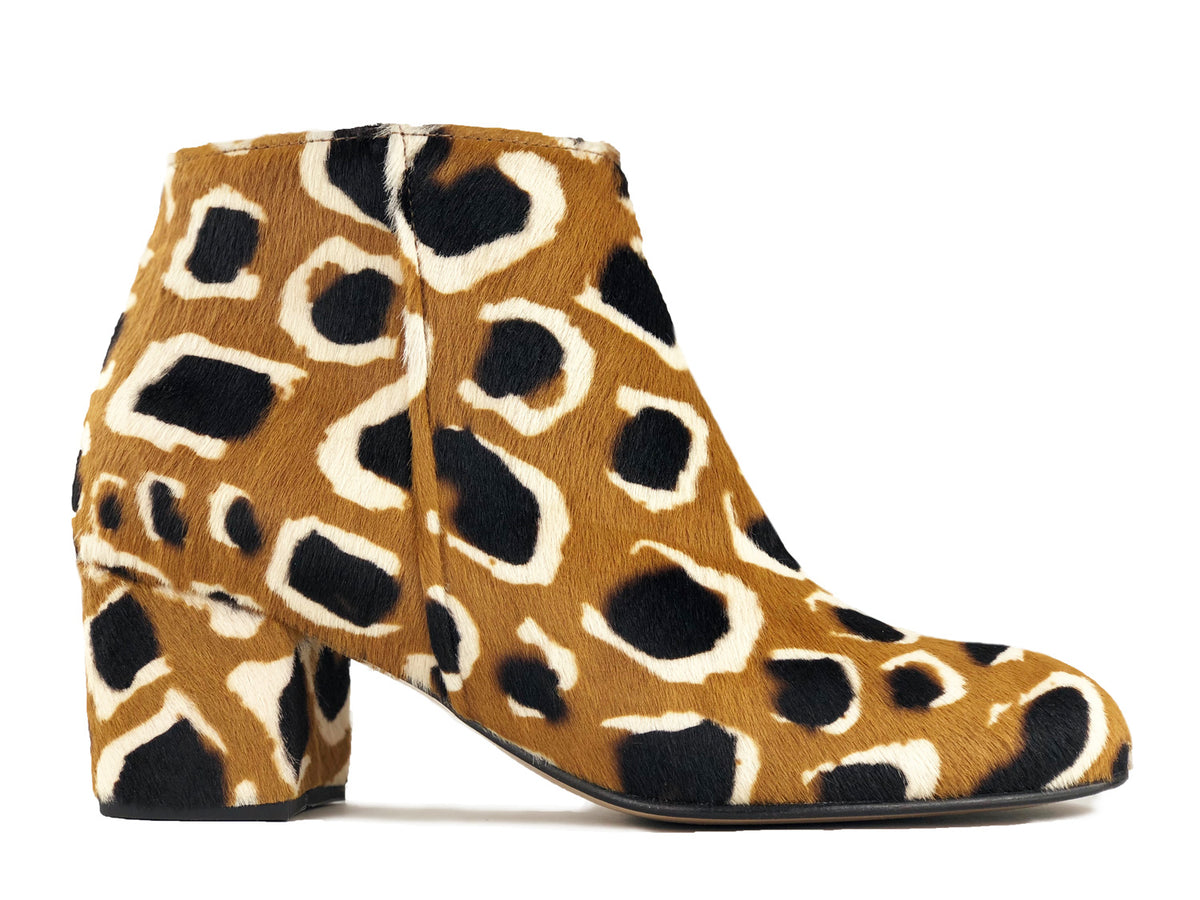 Ana Ankle Boot Animal Print Girafa