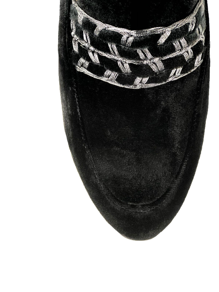 Gin Loafer in Black Velvet