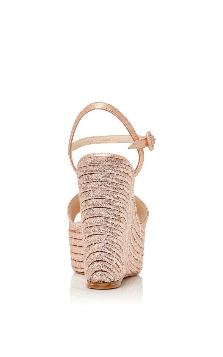 Macarena Platform Magnesio Leather/Rope