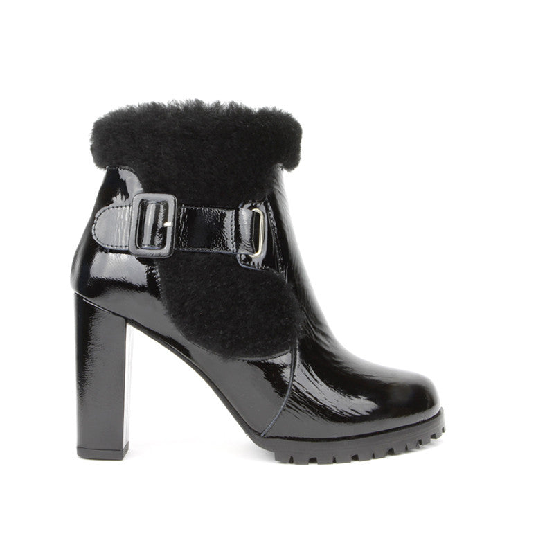 25ffcc9cfcaa0 Cleo Ankle Boot <b>Black Patent with Black ...