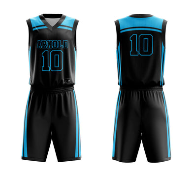 STARTING 5 Sublimated Basketball Kit Single-Sided Example 18