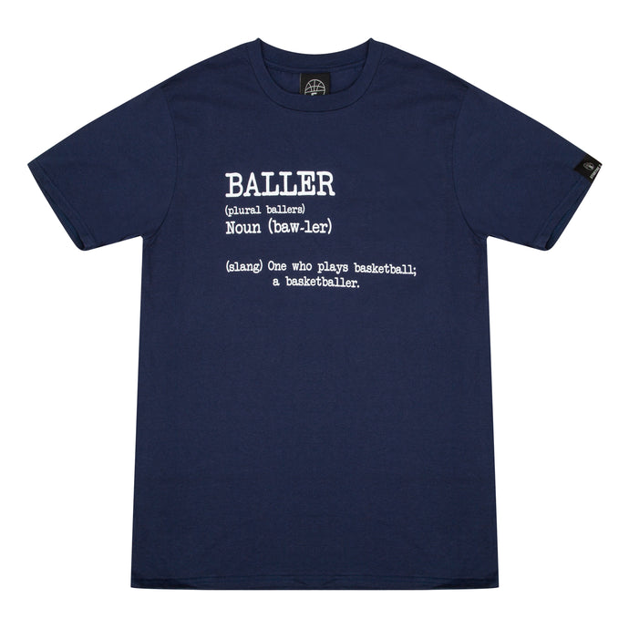 Baller Navy Basketball T Shirt with Dictionary Definition