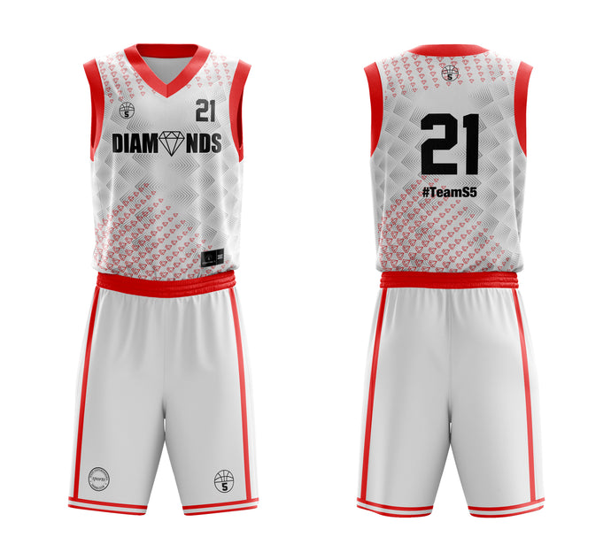 STARTING 5 Sublimated Basketball Kit Single-Sided Example 2