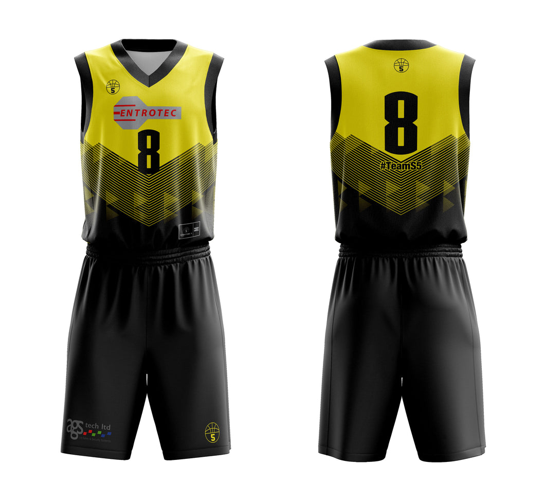 STARTING 5 Sublimated Basketball Kit Single-Sided Example 3