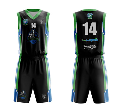 STARTING 5 Sublimated Basketball Kit Single-Sided Example 19
