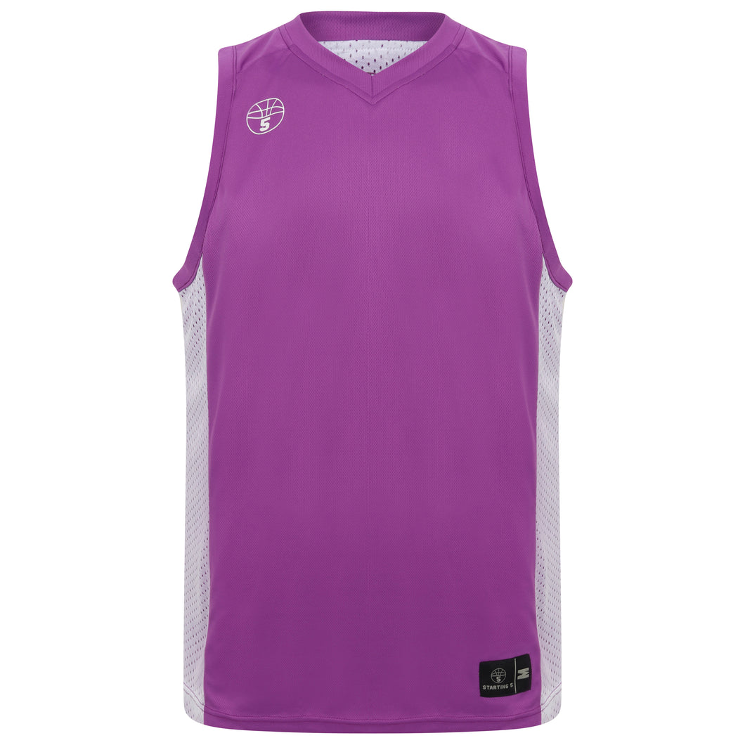 Franklin Reversible Basketball Playing Kit Lilac/White