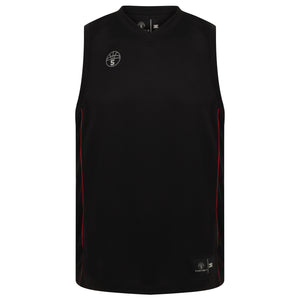 Lexington Basketball Kit Black/Red Trim