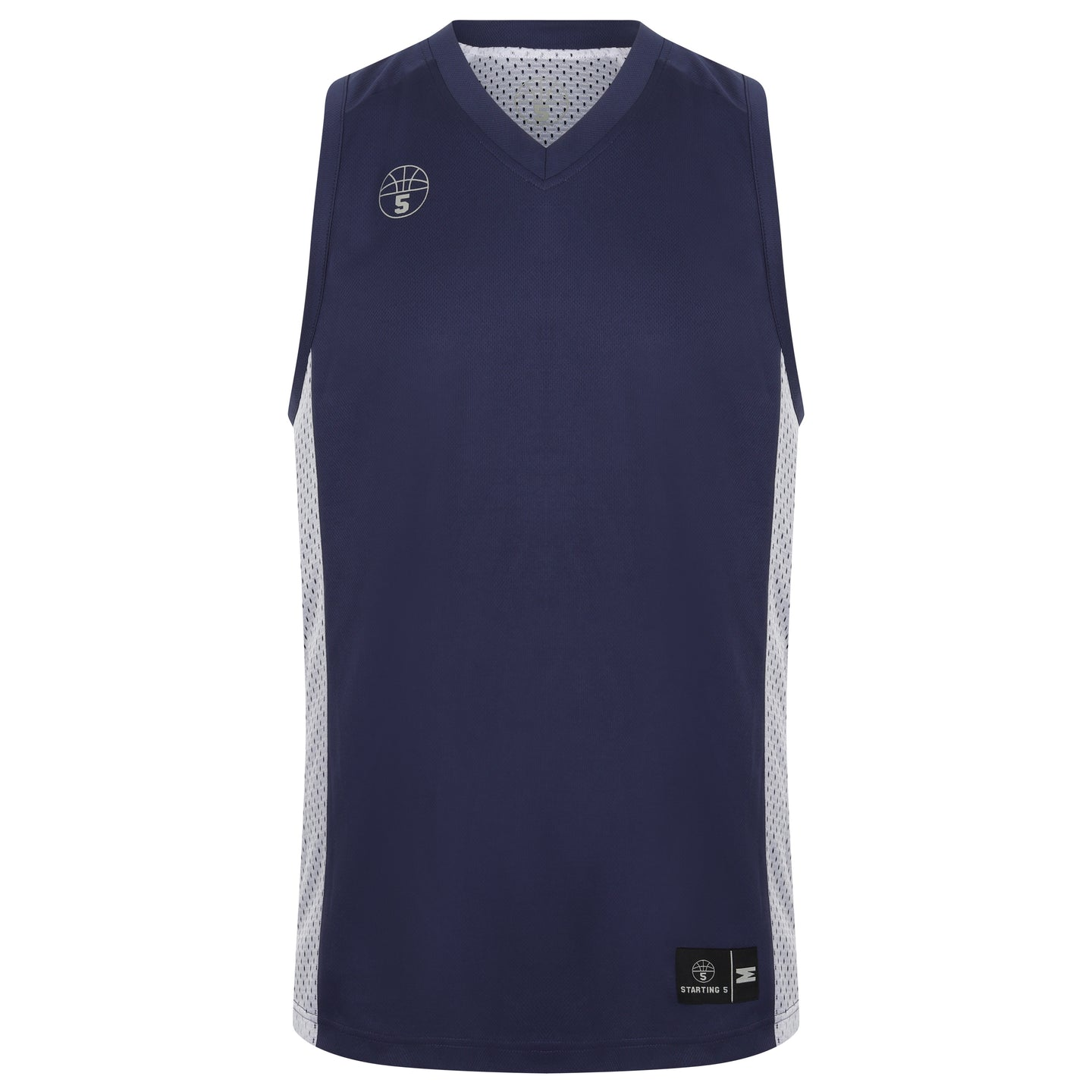 Franklin Reversible Basketball Playing Kit Navy/White