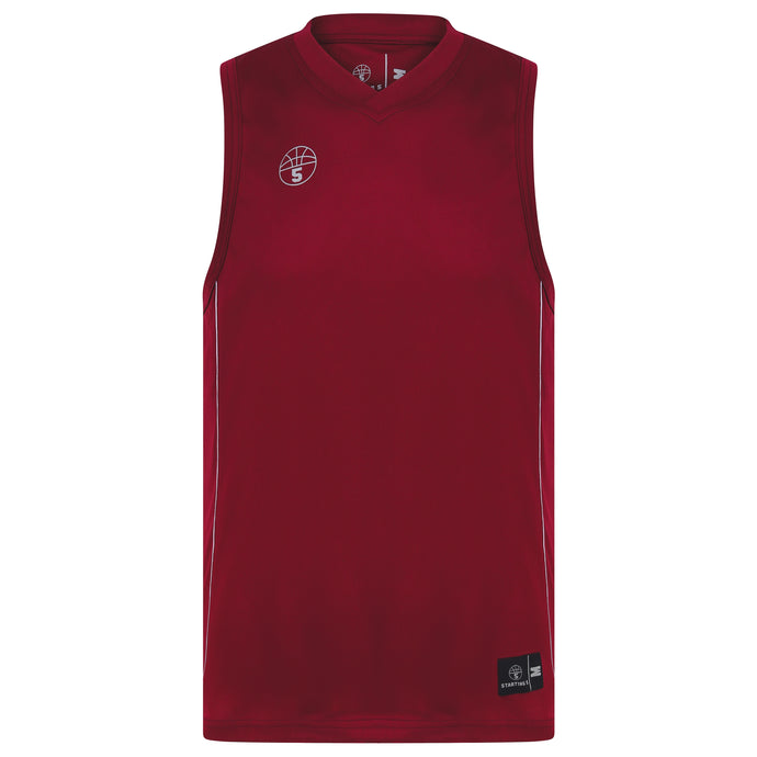 Lexington Basketball Kit Maroon/White