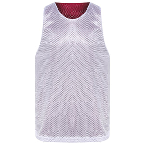Manhattan reversible training vest Maroon/White