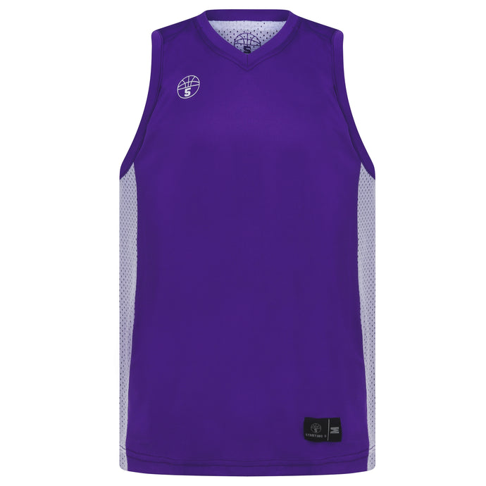 Franklin Reversible Basketball Playing Kit Purple/White
