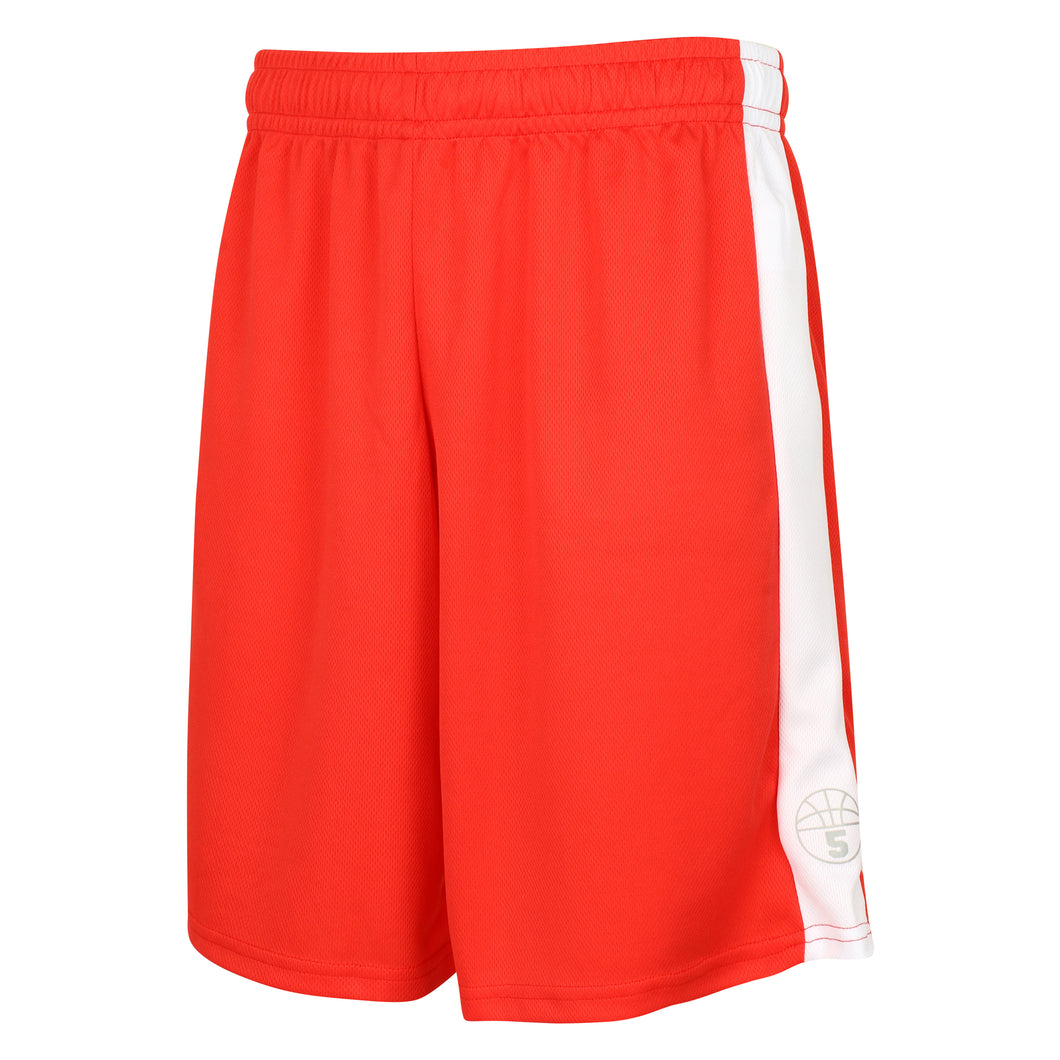 Starting 5 Pelham Basketball Shorts Red/White