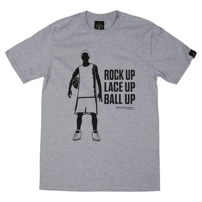 Manz Got Game Grey Basketball T Shirt with Black Print