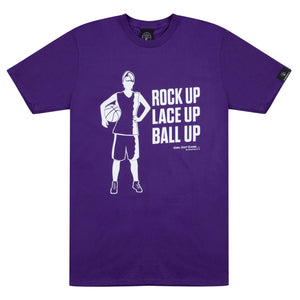 Girl Got Game Purple Basketball T Shirt with White Print
