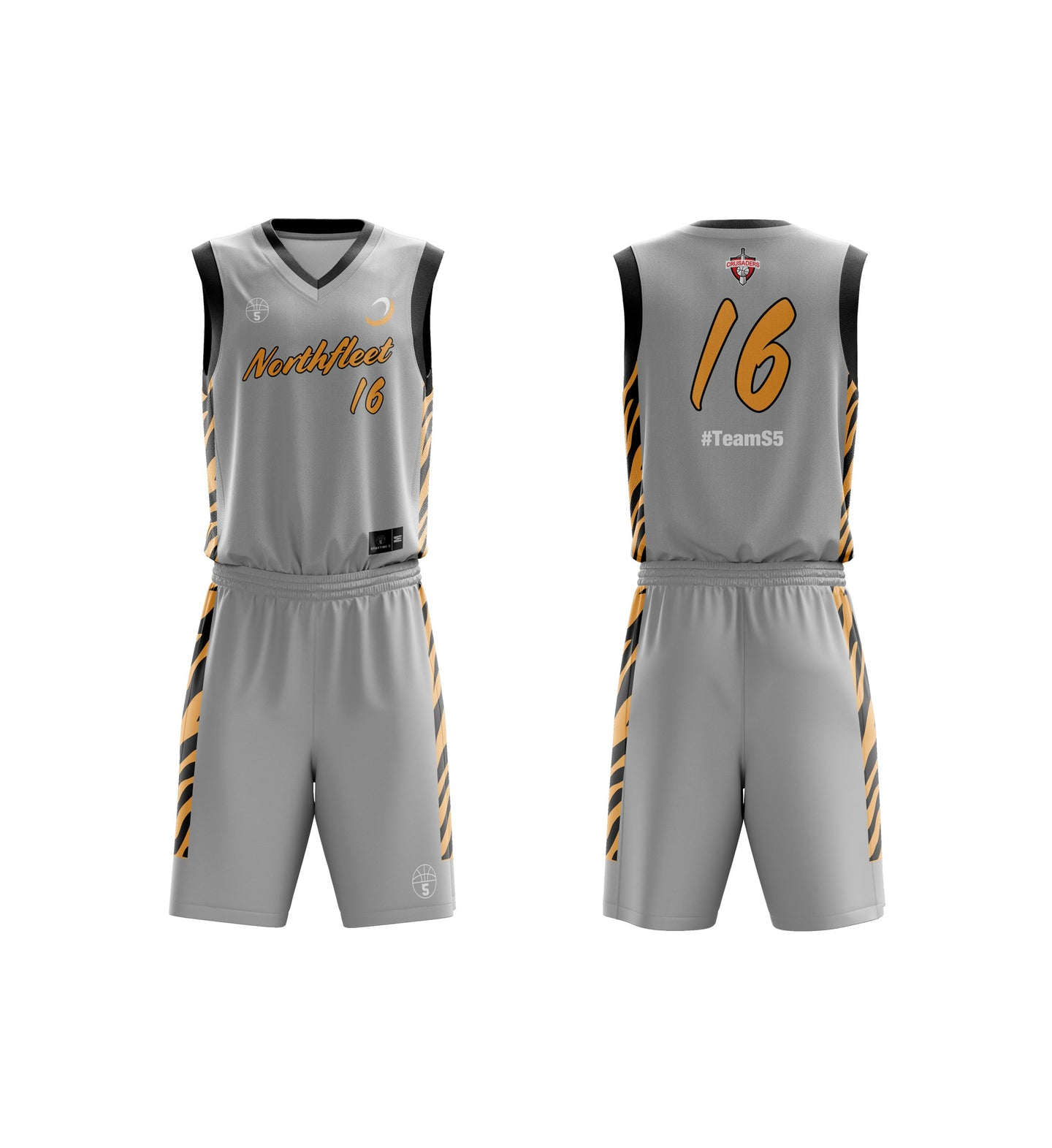 STARTING 5 Sublimated Basketball Kit Single-Sided Example 27