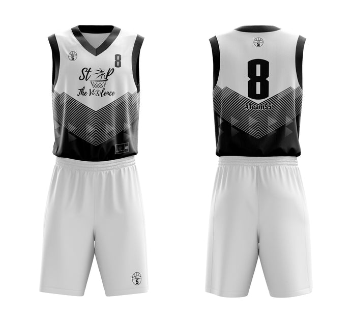 STARTING 5 Sublimated Basketball Kit Single-Sided Example 16