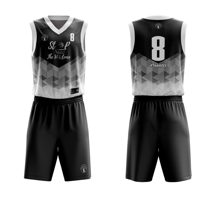 STARTING 5 Sublimated Basketball Kit Single-Sided Example 12