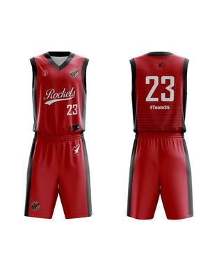STARTING 5 Sublimated Basketball Kit Single-Sided Example 23
