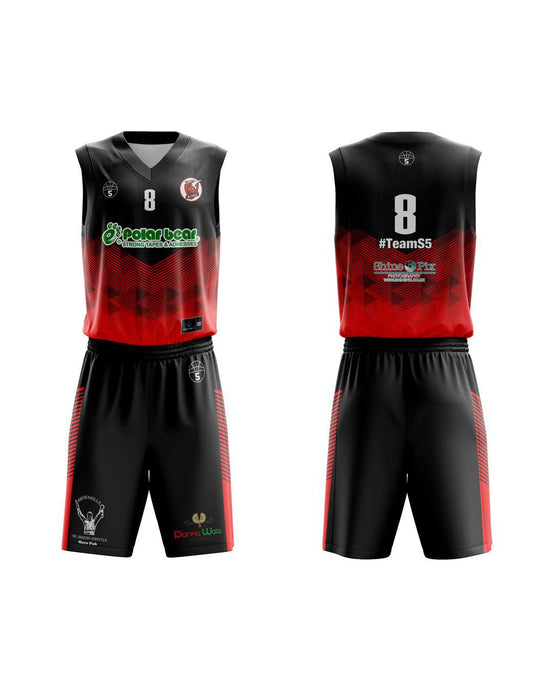 STARTING 5 Sublimated Basketball Kit Single-Sided Example 24