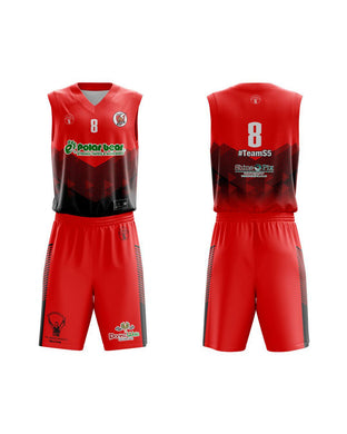 STARTING 5 Sublimated Basketball Kit Single-Sided Example 25