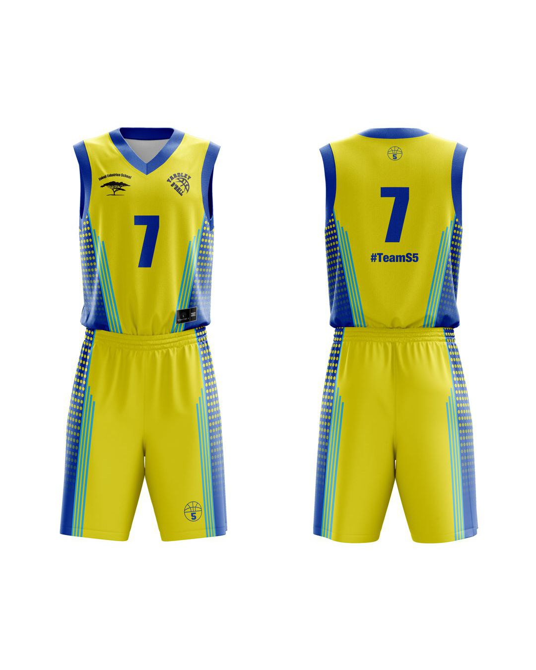 STARTING 5 Sublimated Basketball Kit Single-Sided Example 26