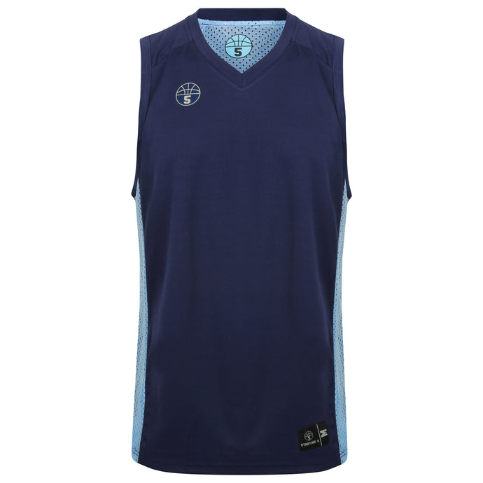 Franklin Reversible Basketball Playing Kit Navy/Sky