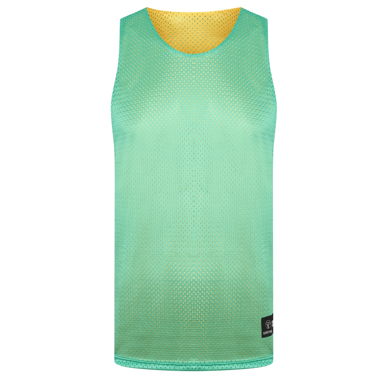 Manhattan Reversible Training Vest Green/Yellow