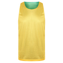 Load image into Gallery viewer, Manhattan Reversible Training Vest Green/Yellow