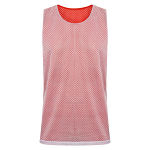 Manhattan Reversible Training Vest Red/White