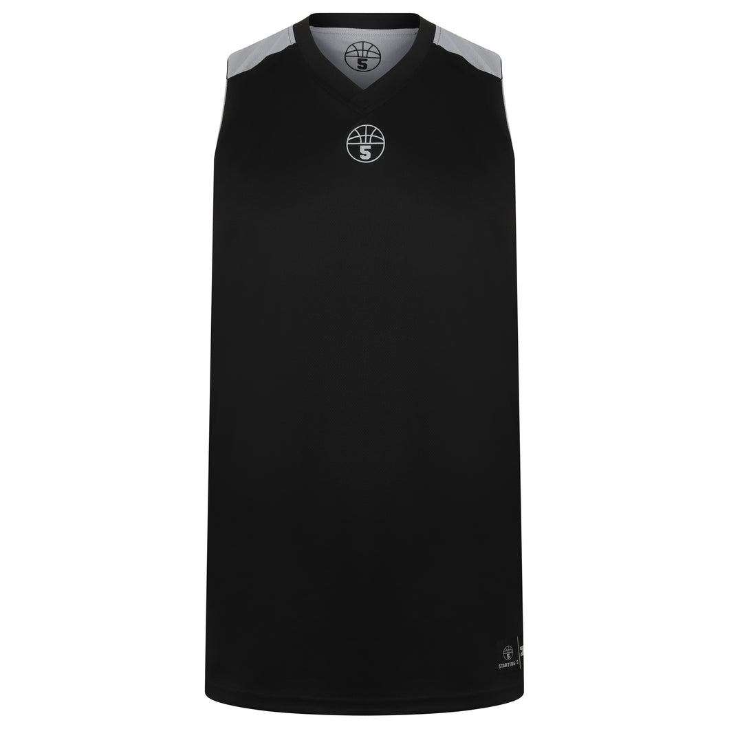 Jefferson Reversible Basketball Training Kit Black/Grey