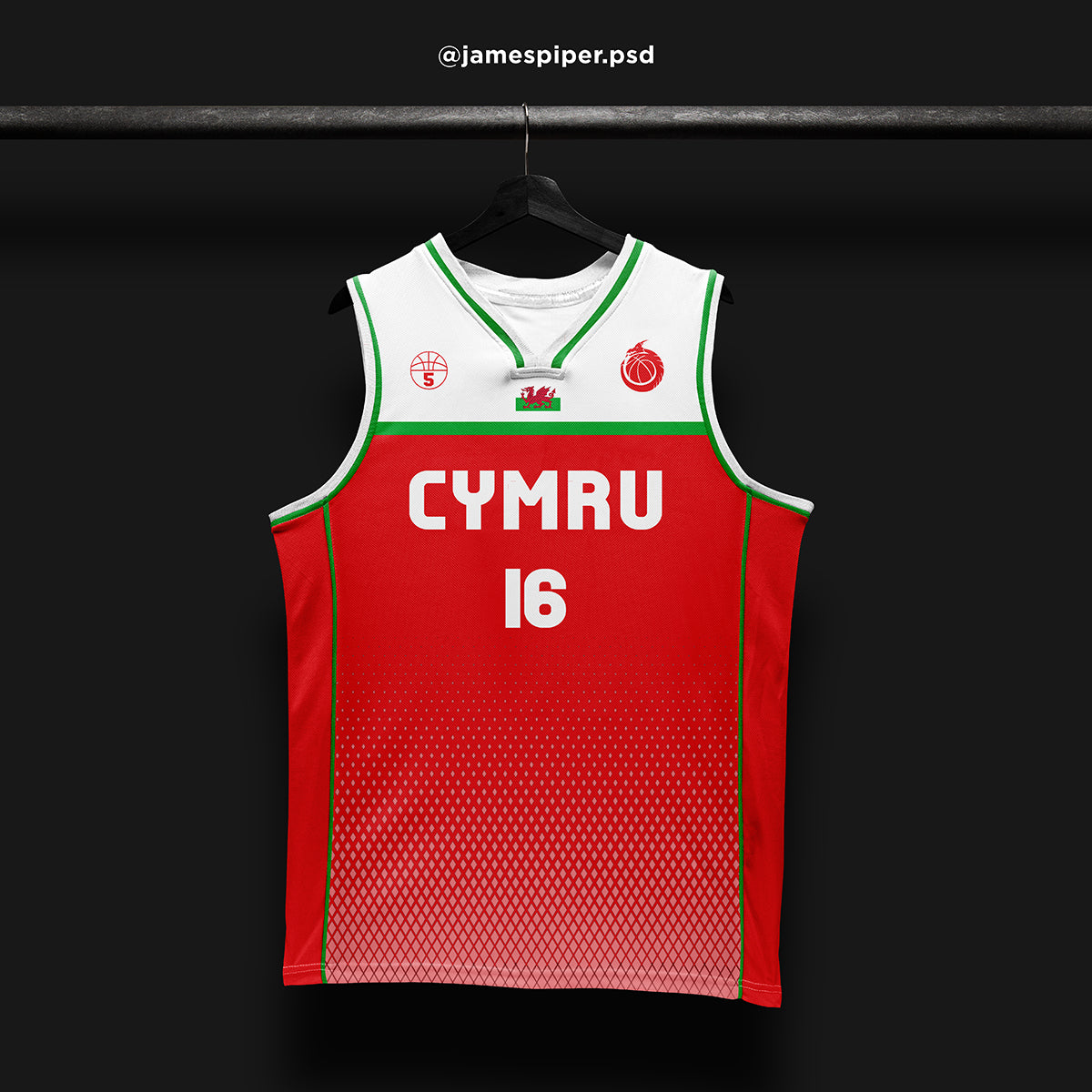 James Piper Design STARTING 5 Made to Order Basketball Kit Single-Sided Example 14