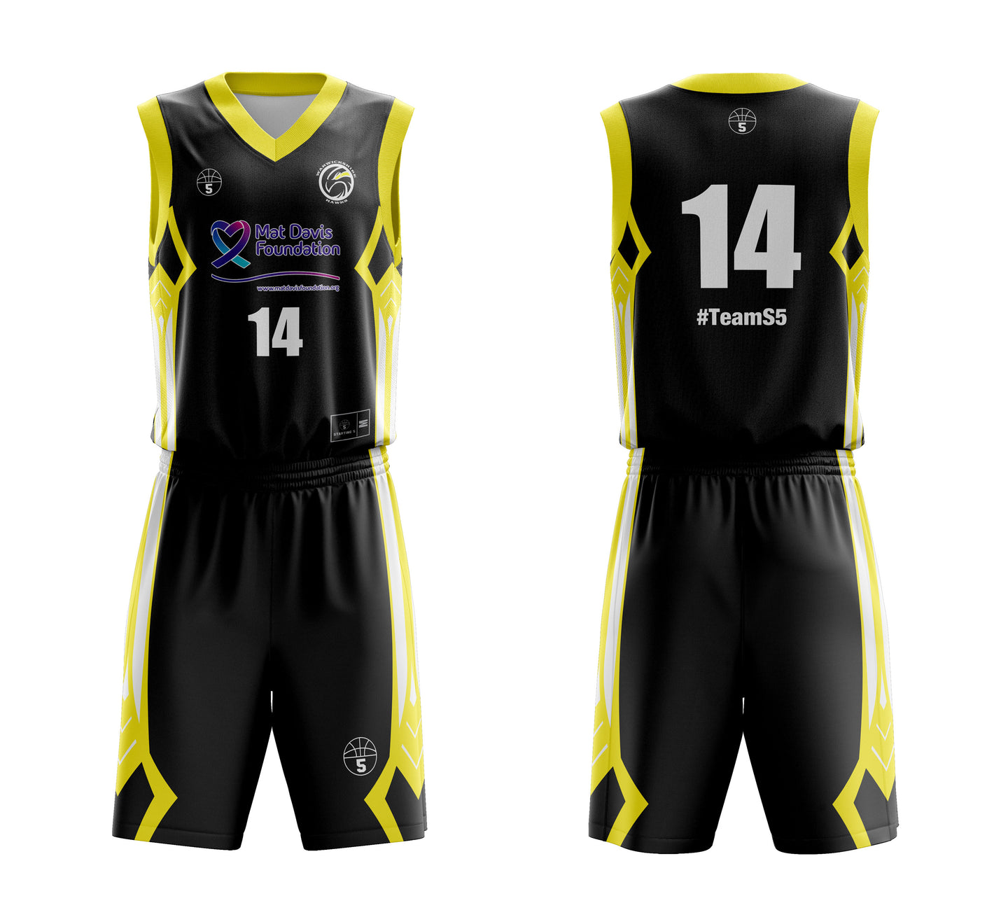 STARTING 5 Sublimated Basketball Kit Single-Sided Example 8