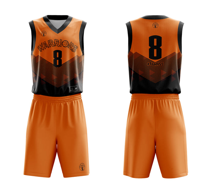 STARTING 5 Sublimated Basketball Kit Single-Sided Example 17