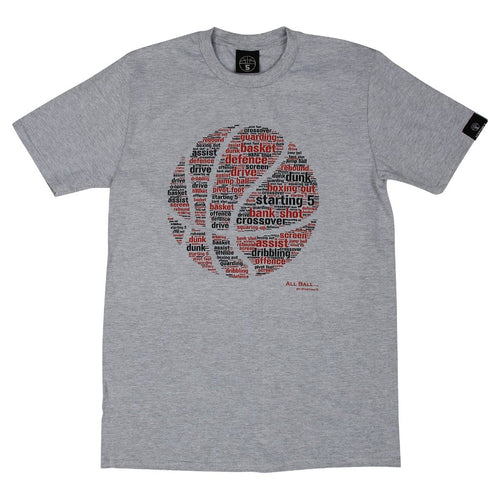 All Ball Grey Basketball T Shirt