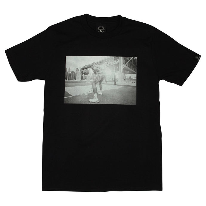 Heaven Black Basketball T Shirt with Photographic Print