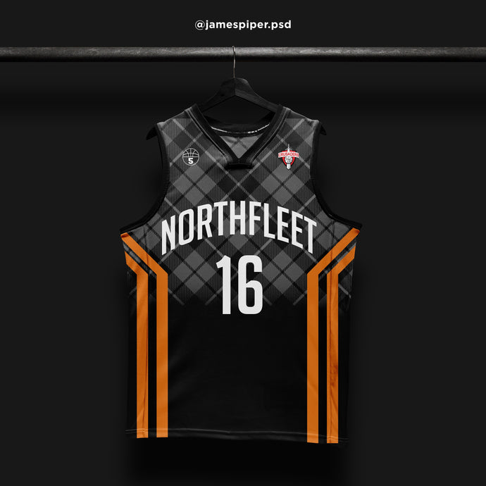 James Piper Design STARTING 5 Made to Order Basketball Kit Single-Sided Example 16