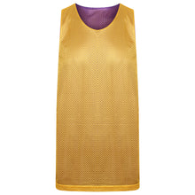 Load image into Gallery viewer, Manhattan Reversible Training Vest Purple/Gold