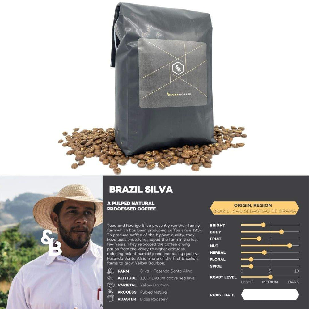 Load image into Gallery viewer, Image of Brazil Silva single origin coffee 1kg bag