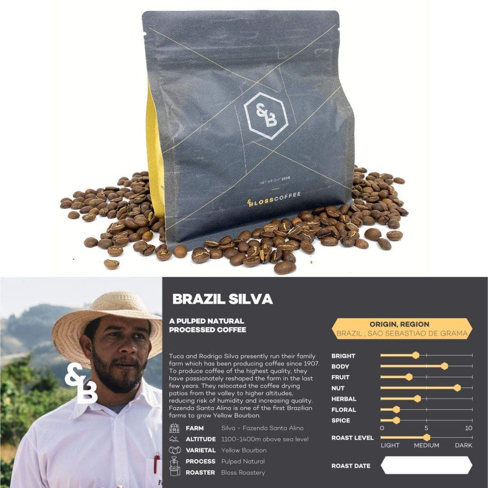 Image of Brazil Silva single origin coffee 250g bag