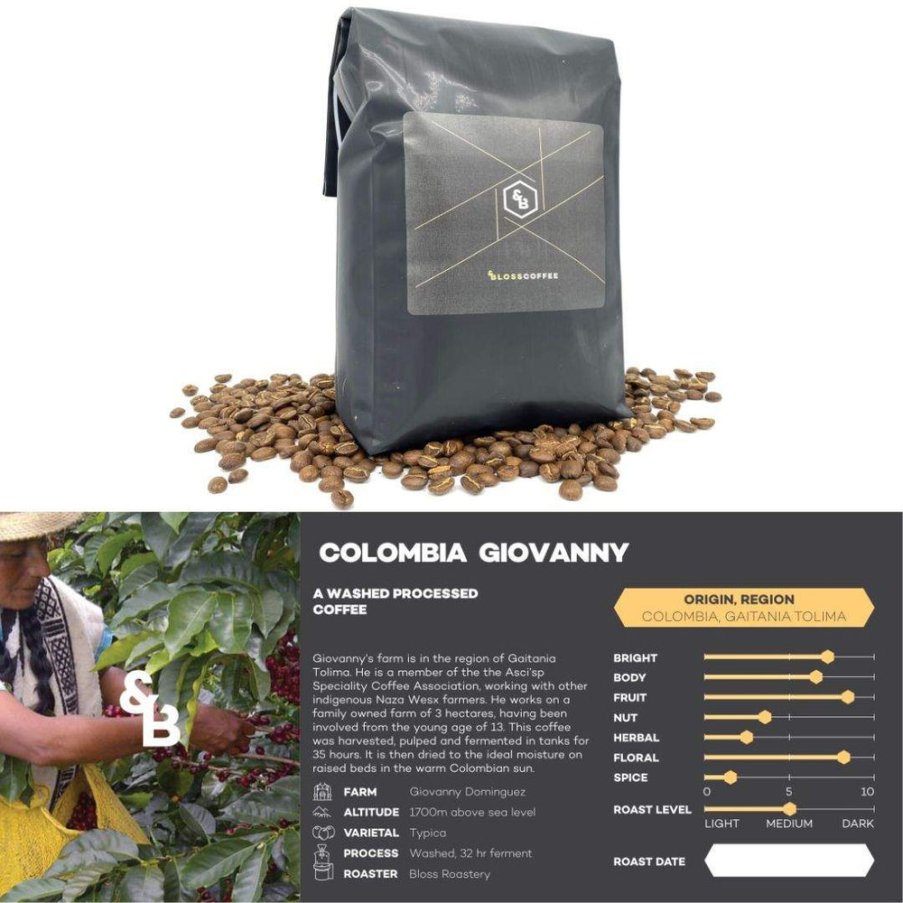 Load image into Gallery viewer, Image of Colombian Giovanny single origin coffee 1kg bag