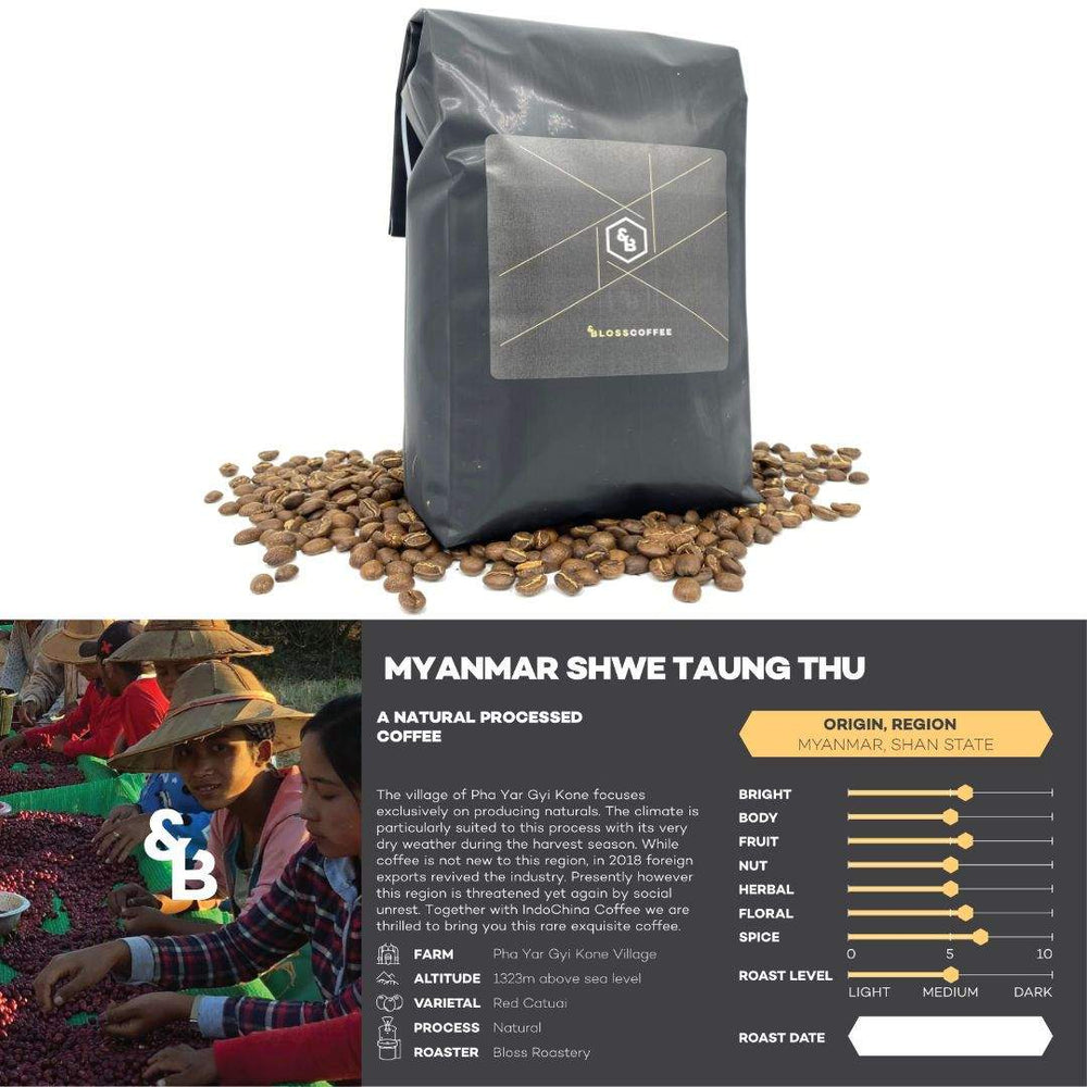 Load image into Gallery viewer, Image of Myanmar Shwe single origin coffee 1kg bag