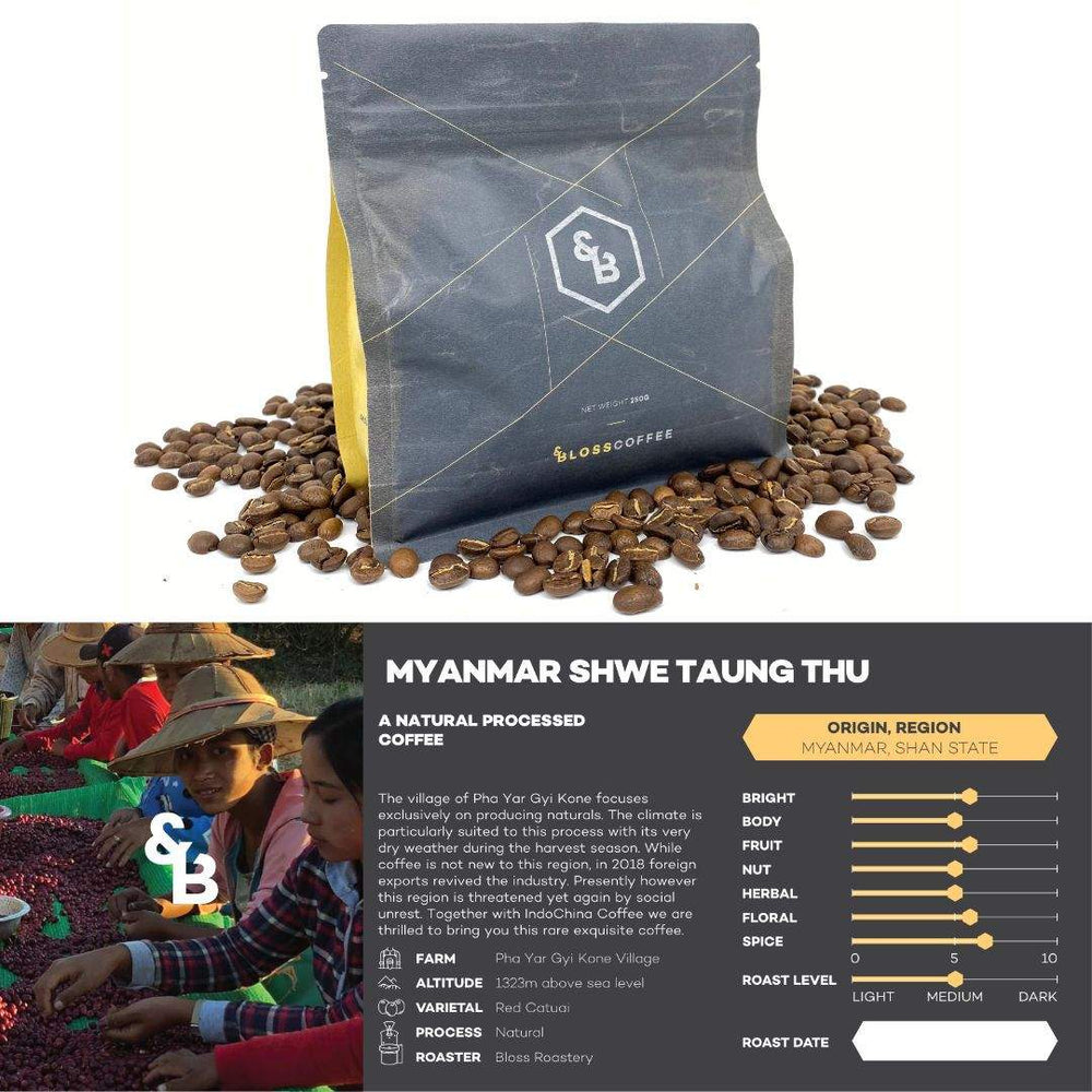 Image of Myanmar Shwe single origin coffee 250g bag