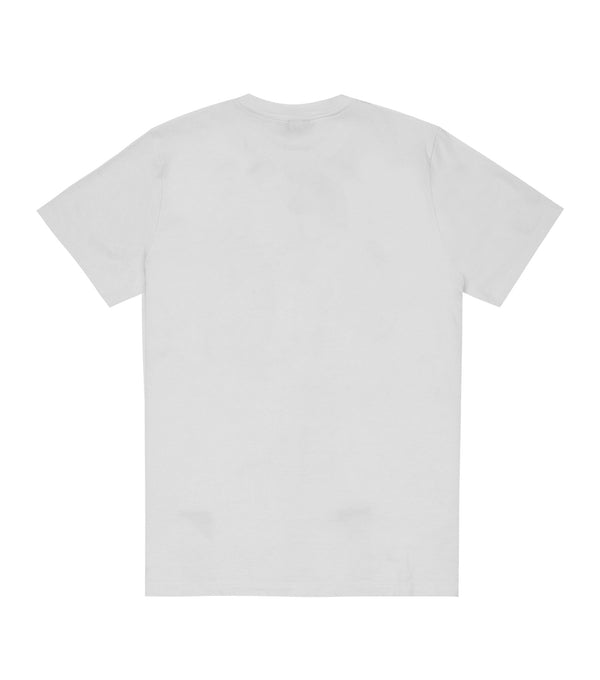 EMBROIDERED LINEAR LOGO TEE
