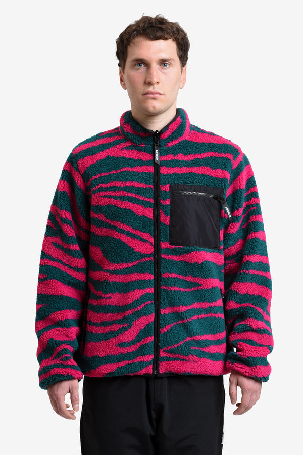 REVERSIBLE ZIP-UP JACKET - ACID TIGER