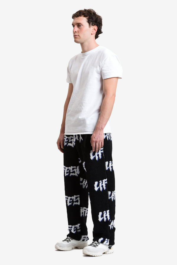 RETRO FLEECE CLIP PANT - GROWLING LOGO