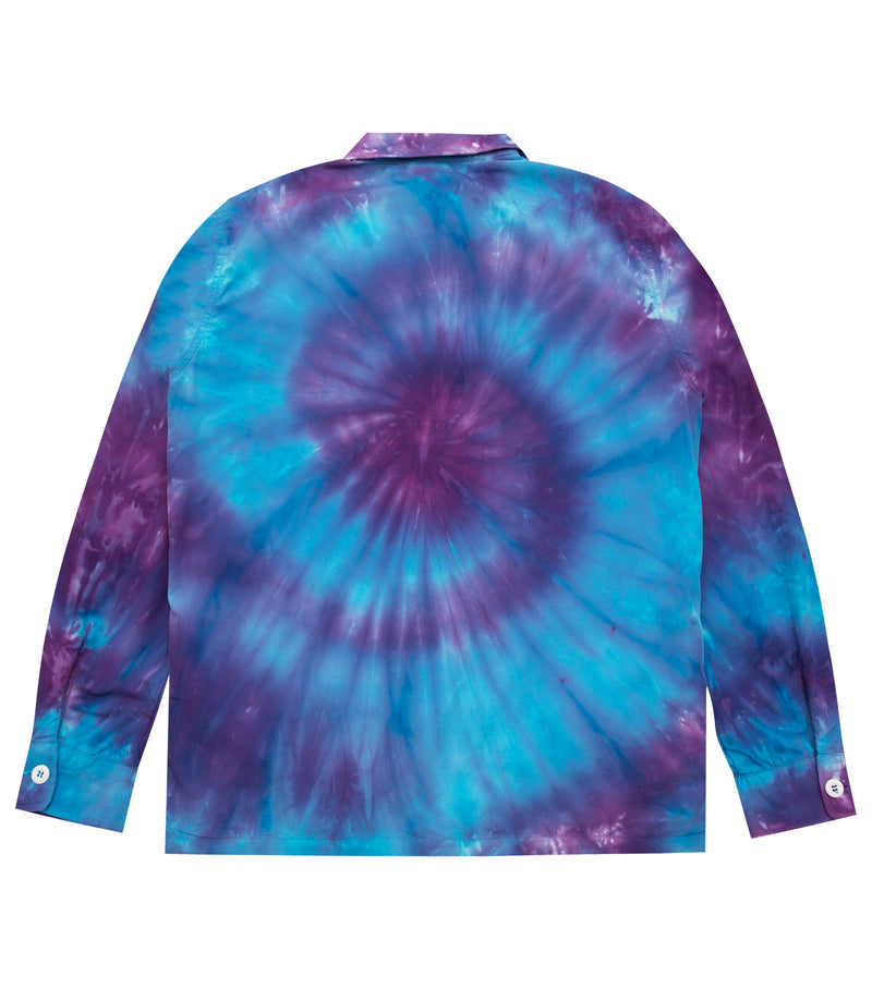 TIE DYE ZIP UP SHIRT
