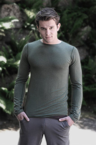 Mens' sustainble eco fashion long sleeve made in Canada